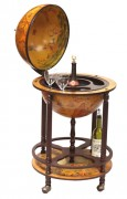 "Italian Style 20"" Diameter 4-Leg Floor Globe Bar Stocked"