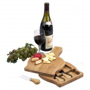 Chianti Cheese Board set -bottle shape w/food