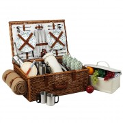 Dorset Basket for 4 w/coffee set & blanket -Gazebo
